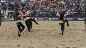 Smart Beach Tour. Smart Beach Girls beim Beachvolleyball am Timmendorfer Strand
